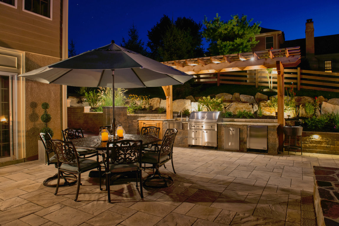 Outdoor Kitchen Lighting Lighting Burkholder Landscape