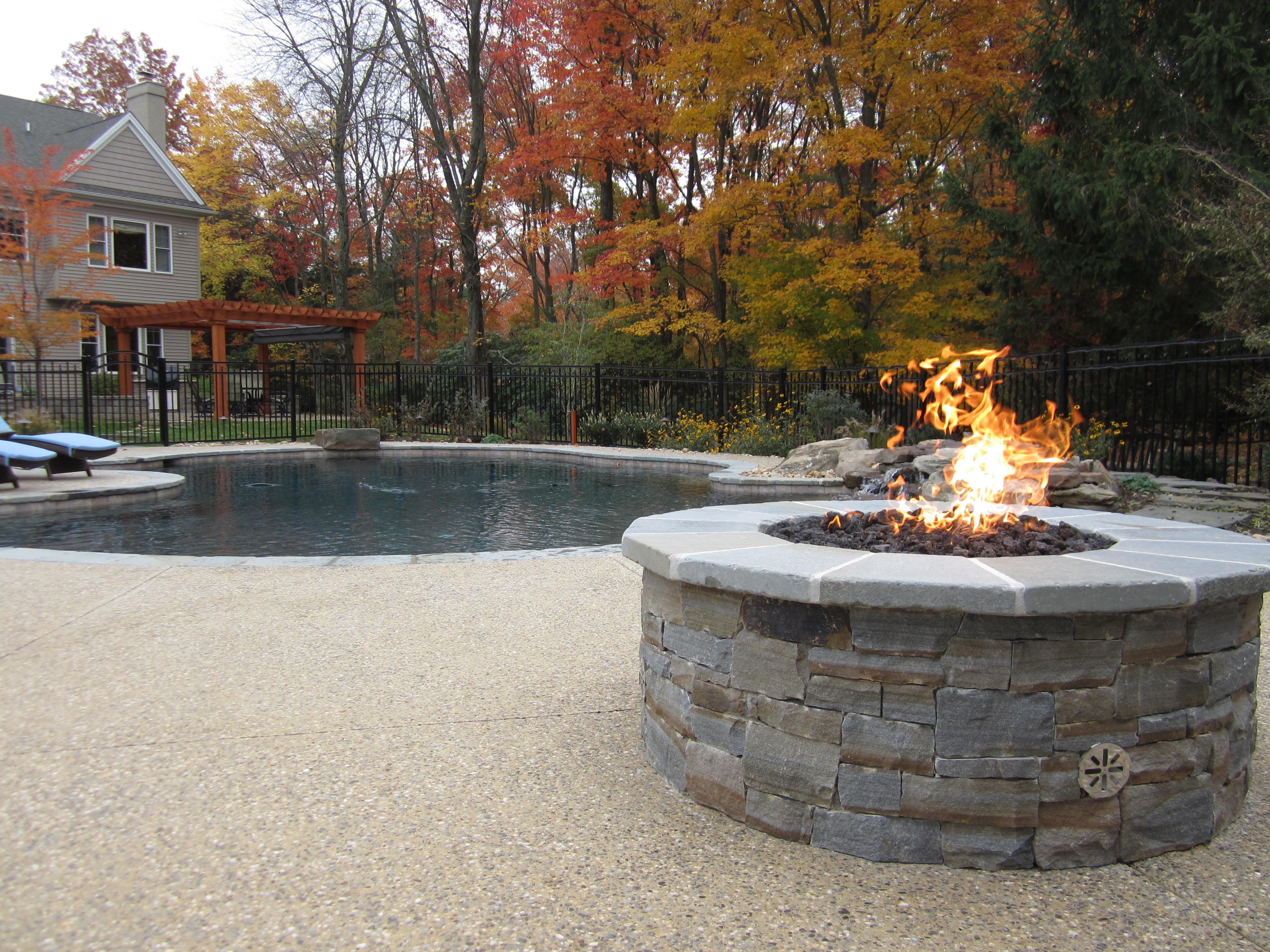 Fireplaces firepits burkholder landscape for Fire pit landscaping images