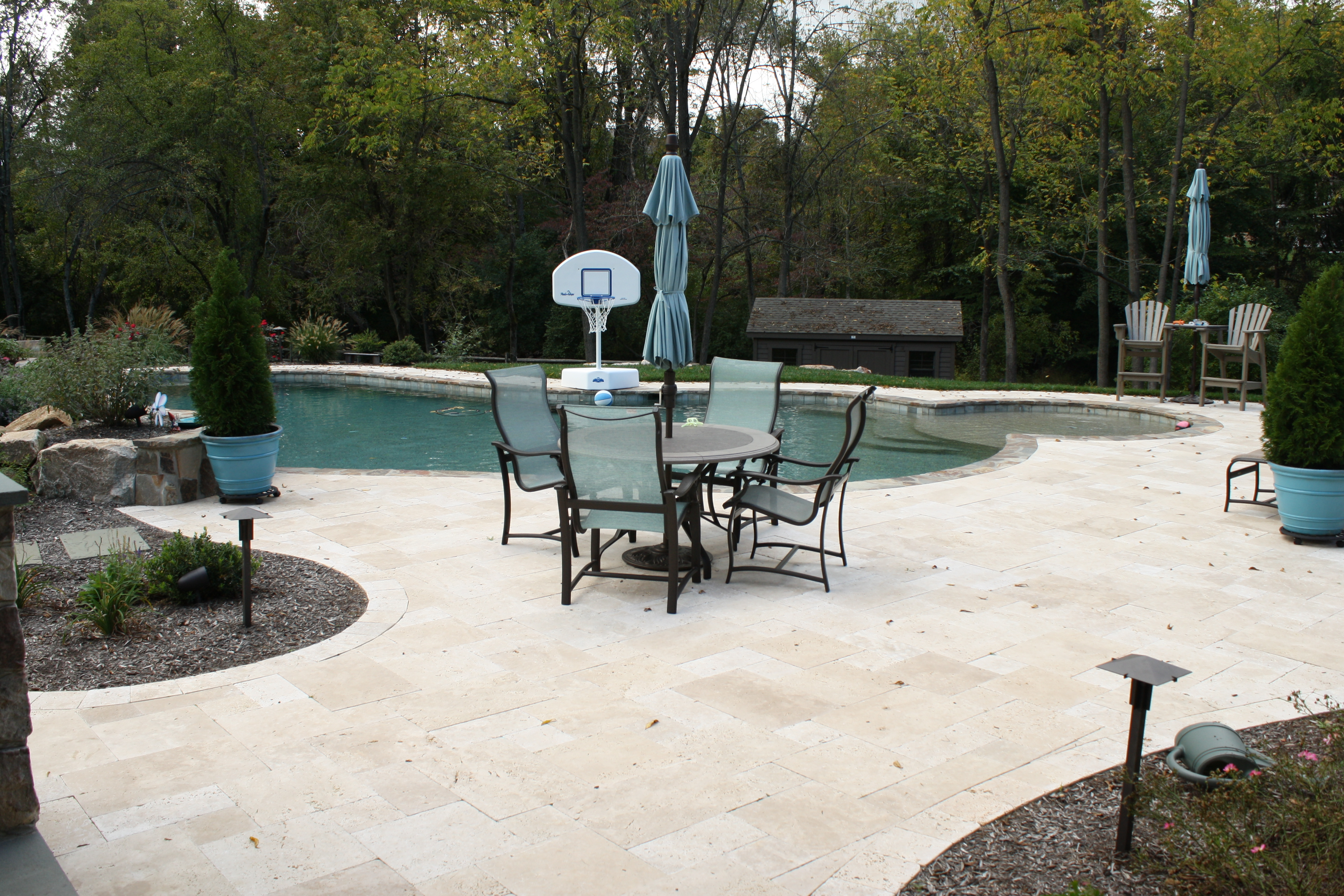 Delicieux Travertine Patio