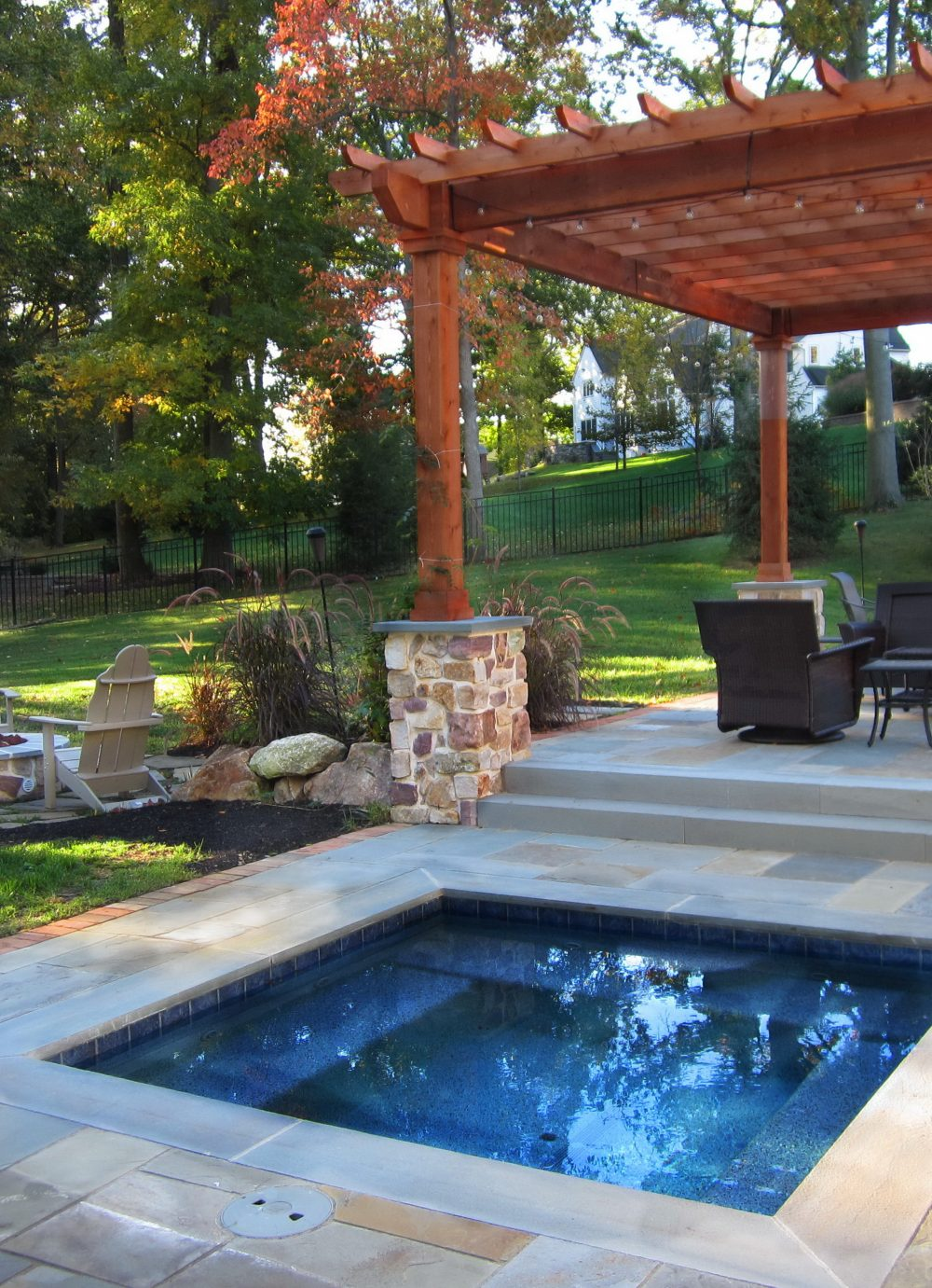 Outdoor structures pergolas burkholder landscape for Outdoor structures