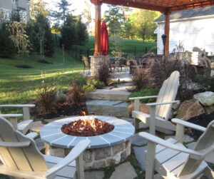 outdoor living spaces - firepit and pergola
