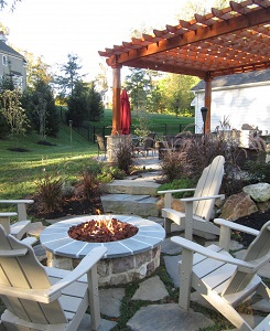 Burkholder Firepit and Pergola