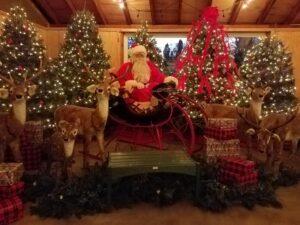 Burkholder Christmas Santa and Reindeer