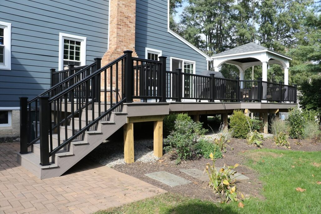 Raised Composite Deck | backyard deck | Burkholder Brothers