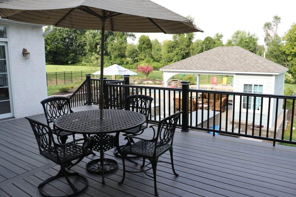 Burkholder Raised Composite Deck Landscape Design