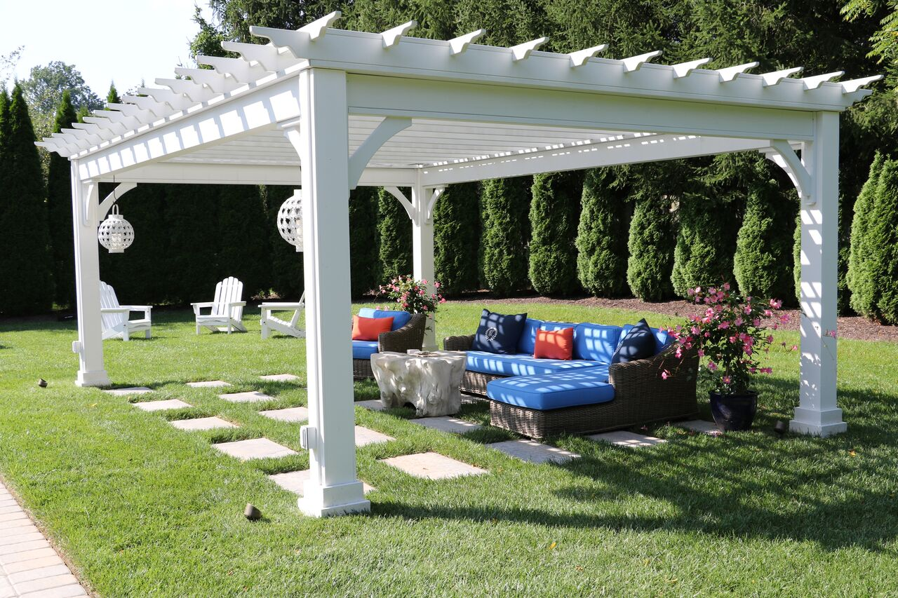 Outdoor structures pergolas burkholder landscape for Outdoor structures