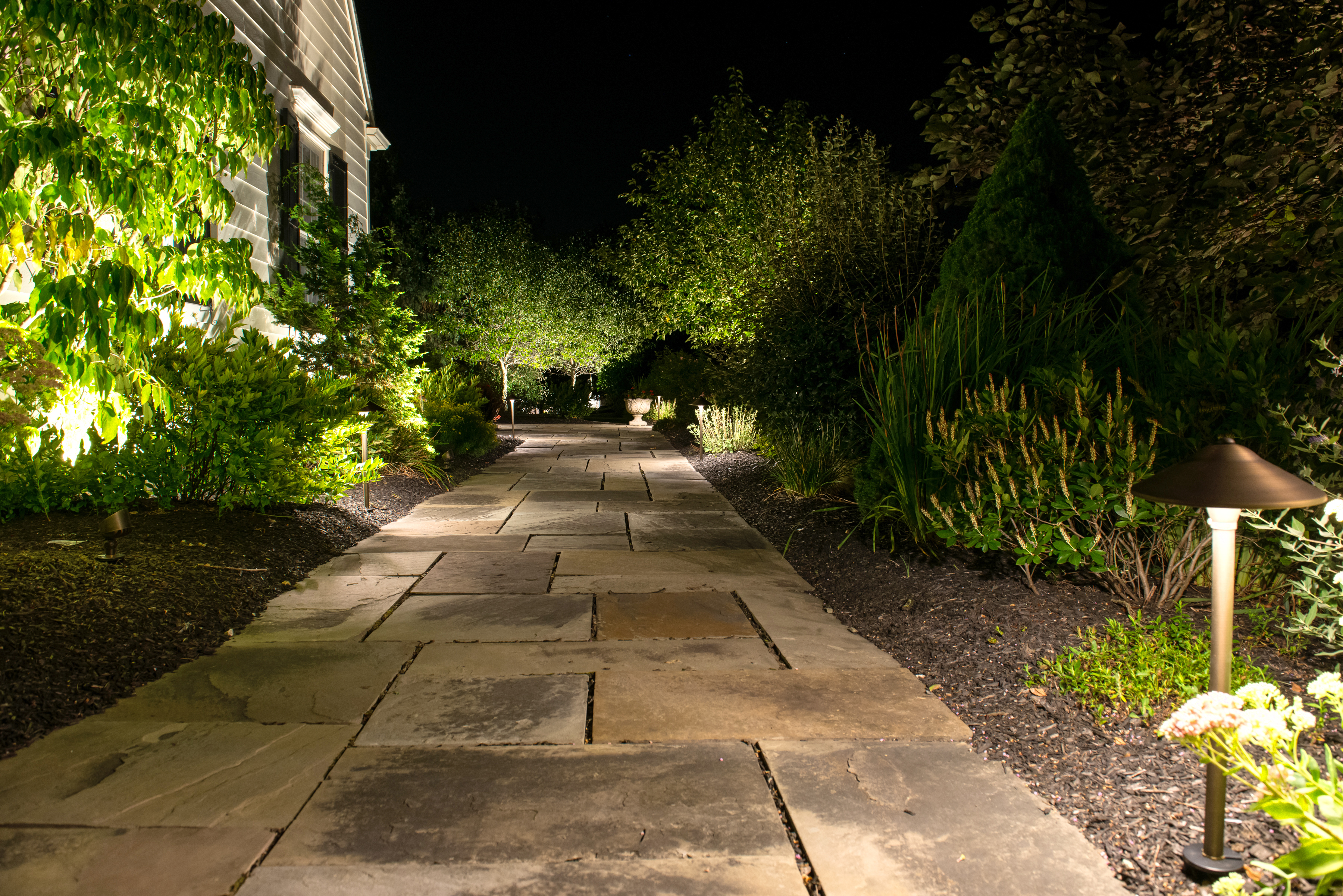pack walkway pathway and path integrated hampton p flood voltage light outdoor led kit bronze lights bay landscape low