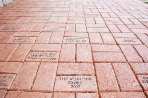 Penn Wood Elementary School Legacy Garden Dedication 5-17-18 - bricks purchased by local families and imprinted with personalized dedication messages