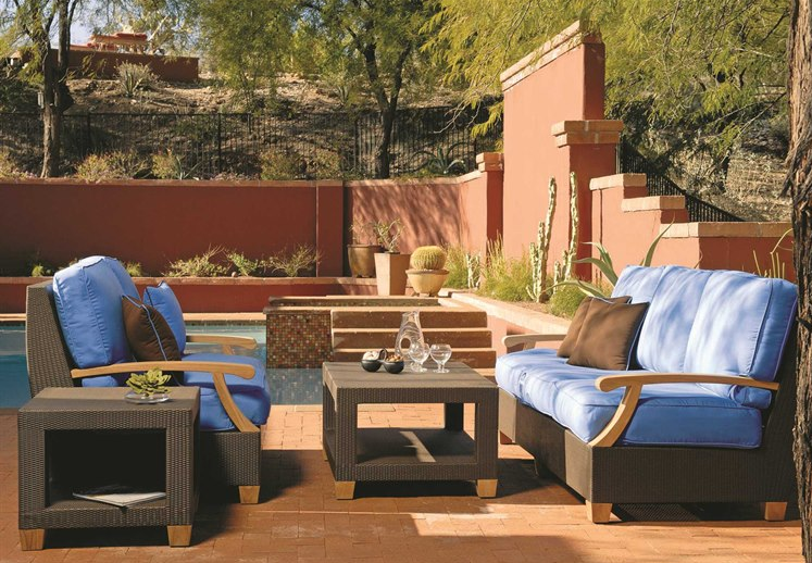 Get Three Birds Casual's - Ciera teak wicker set from Burkholder Landscape