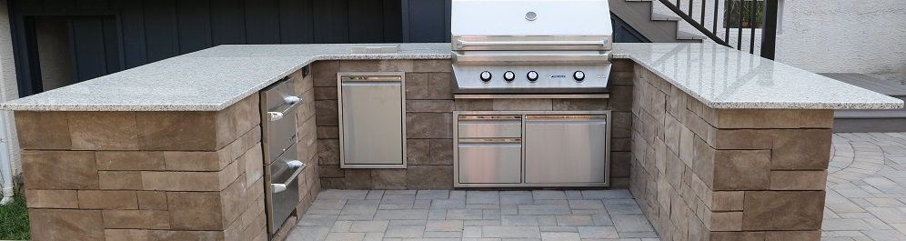 Outdoor Kitchen with counter height bar - 996- Burkholder