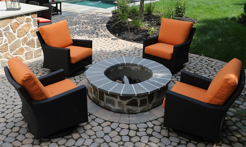 Patio fire table - Burkholder