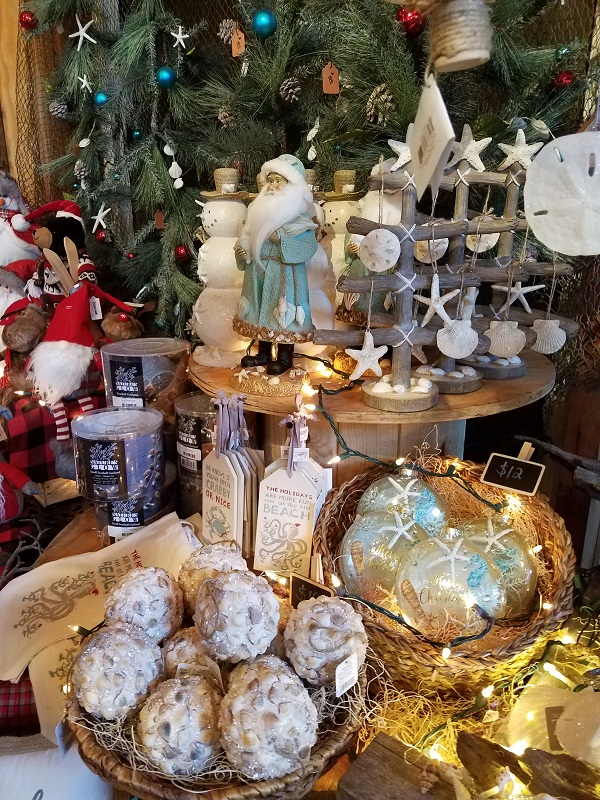 Beach themed gifts at the Burkholder Holiday Pop-up Marketplace 12-1-18