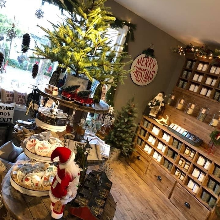Candles and ornaments at Burkholder Holiday Market   Last minute gift ideas   Burkholder Brothers