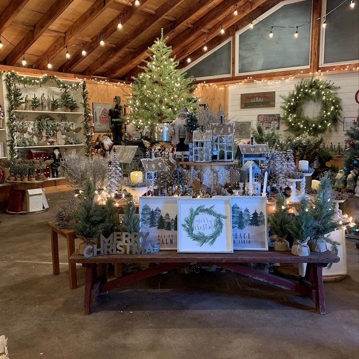 Wall signs and wreaths at Burkholder Holiday Market | Last minute gift ideas | Burkholder Brothers